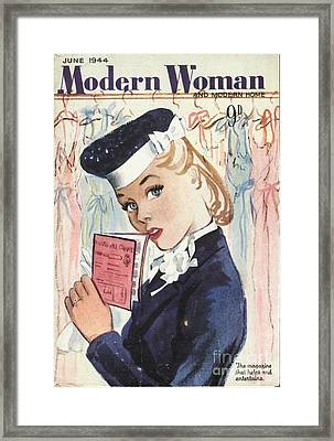 Modern Woman 1944 1940s Uk Womens Framed Print by The Advertising Archives