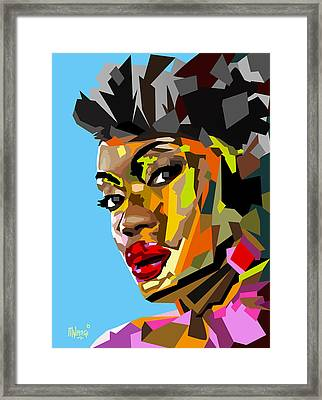 Framed Print featuring the digital art Modern Woman by Anthony Mwangi