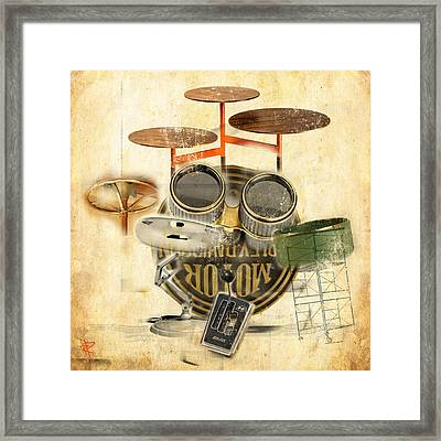 Modernist Percussion Framed Print