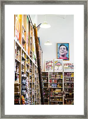 Modica Market Framed Print by Shelby  Young