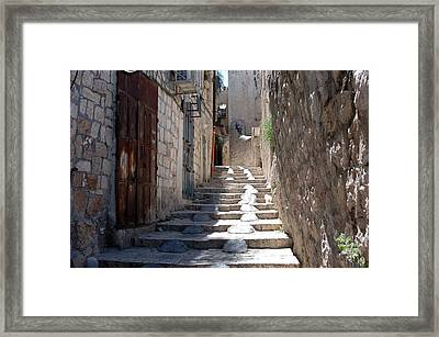 Modified Stairway Framed Print by David Rosenthal