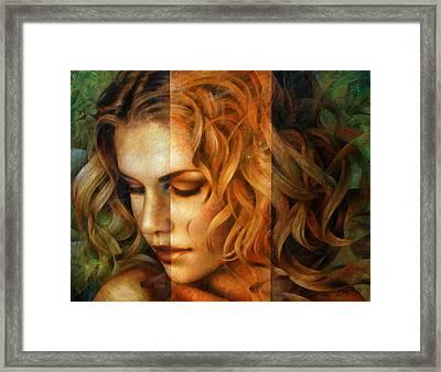 modified version of Portrait Framed Print by Arthur Braginsky