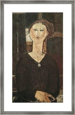 Modigliani, Amedeo 1884-1920. Antonia Framed Print