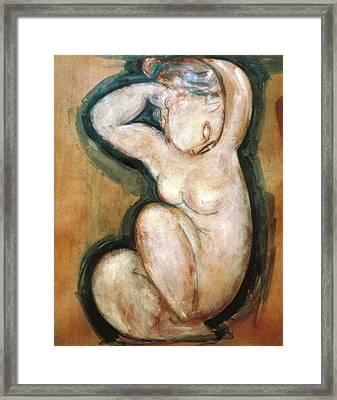 Modigliani, Amedeo 1884-1920. Caryatid Framed Print