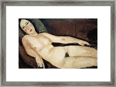Modigliani, Amedeo 1884-1920. Nude Framed Print