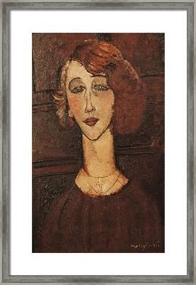 Modigliani, Amedeo 1884-1920. Ren�e Framed Print