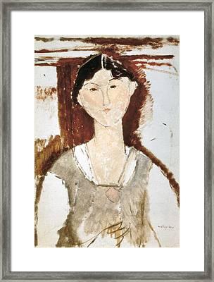 Modigliani, Amedeo 1884-1920. Study Framed Print