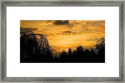 Modoc Sunrise Framed Print by Jennifer Muller
