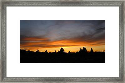 Modoc Sunset Framed Print by Jennifer Muller