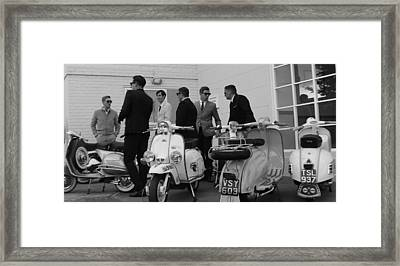 Mods And Suits Framed Print