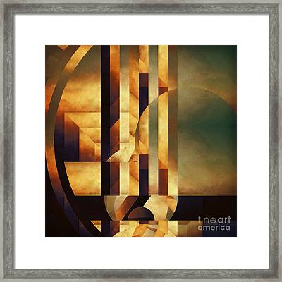 Modular Movement Framed Print by Lonnie Christopher