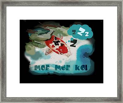 Moe Moe Koi Framed Print by Wendy Wiese