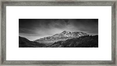 Moel Siabod Black And White Panorama Framed Print