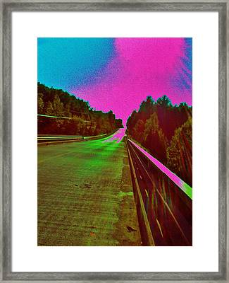 Framed Print featuring the photograph Moffit Bridge And Maple Ridge Rd. by Daniel Thompson