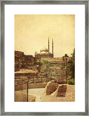 Framed Print featuring the photograph Mohamed Ali Mosque In Cairo by Mohamed Elkhamisy