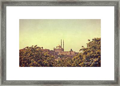 Framed Print featuring the photograph Mohamed Ali Mosque by Mohamed Elkhamisy