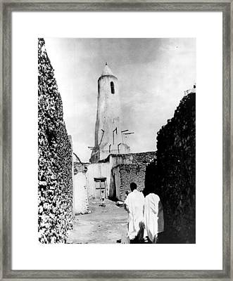 Mohammedan Mosque In Harar Ethiopia Framed Print by Retro Images Archive