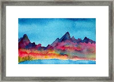Mohave Mountains Framed Print