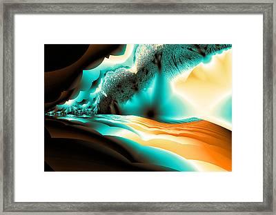 Mohave Rain Framed Print