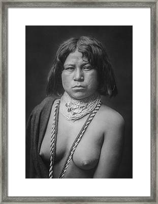 Mohave Woman Circa 1903 Framed Print by Aged Pixel