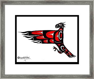 Mohawk Eagle Red Framed Print by Speakthunder Berry