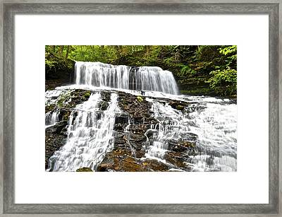 Mohawk Falls Framed Print by Frozen in Time Fine Art Photography