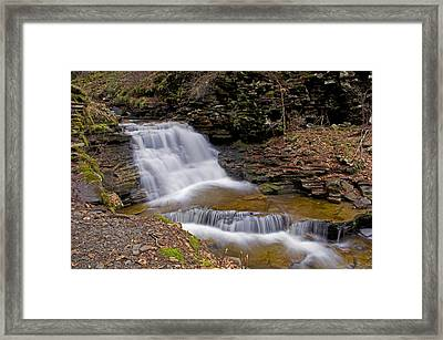Mohican Falls In Spring Framed Print