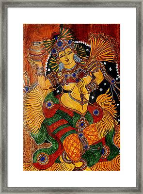 Framed Print featuring the painting Mohini by Saranya Haridasan