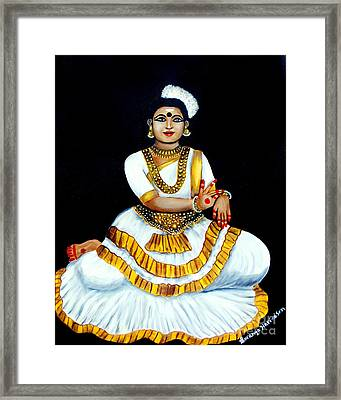 Framed Print featuring the painting Mohiniyattam by Saranya Haridasan