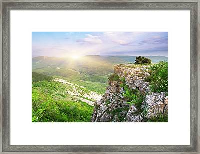 Mointain Beautiful Framed Print by Boon Mee