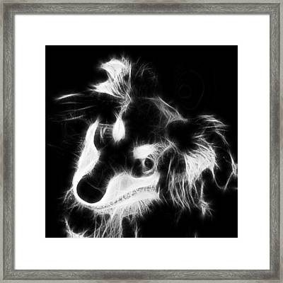 Moja - Black And White Framed Print by Marlene Watson