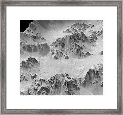 Mojave Crater Framed Print by Jpl-caltech/university Of Arizona/nasa/science Photo Library