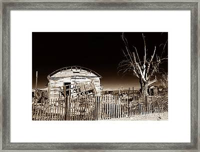 Mojave House Framed Print by John Rizzuto