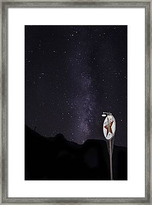 Framed Print featuring the photograph Mojave Milky Way 3 by James Sage