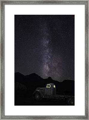 Framed Print featuring the photograph Mojave Milky Way by James Sage