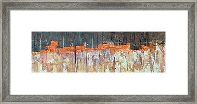 Framed Print featuring the painting Mojave Skyline by Buck Buchheister