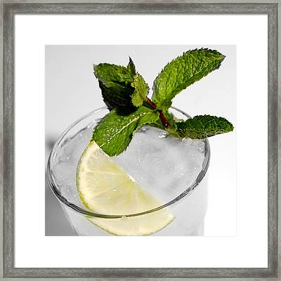 Mojito Detail Framed Print by Gina Dsgn