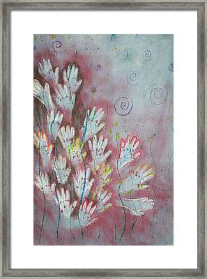 Framed Print featuring the mixed media Mojo Praise by Carrie Maurer
