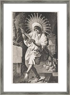 Mojos Indian, From The Ancient Mission Of Trinidad, From The Amazon And Madeira Rivers, By Franz Framed Print by Franz Keller