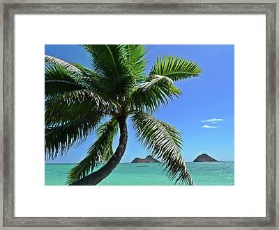 Mokulua Island, Lanikai, Kailua, Oahu Framed Print by Douglas Peebles