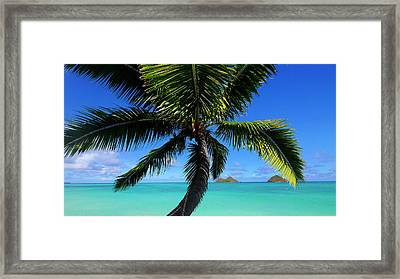 Mokulua Islands, Lanikai, Kailua, Oahu Framed Print by Douglas Peebles