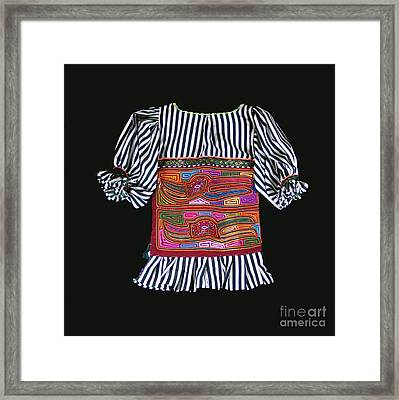 Mola Blouse For A Child Framed Print by Sherry Thorup
