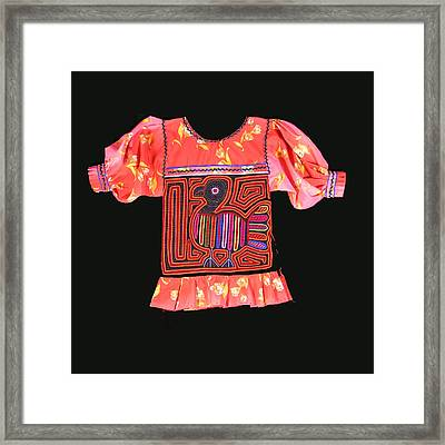 Mola Child's Blouse Framed Print by Sherry Thorup