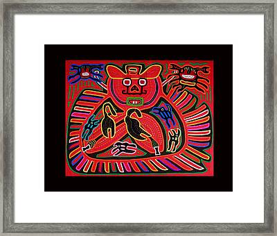 Mola Devil Crab Framed Print by Sherry Thorup