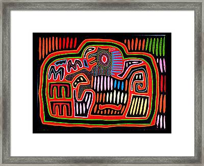 Mola Horse Rearing Framed Print by Sherry Thorup