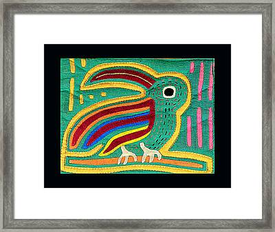 Mola Toucan Framed Print by Sherry Thorup