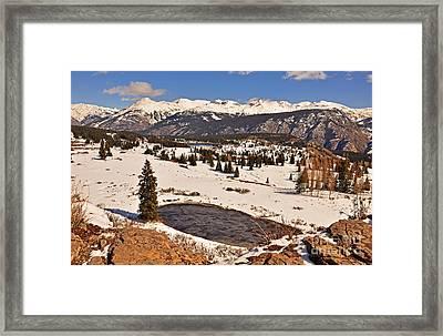 Molas Pass Winter Framed Print