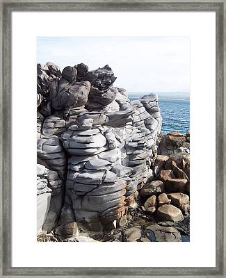Framed Print featuring the photograph Molded By Waves by Sheila Byers