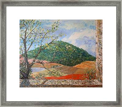 Mole Hill Greets The Morning - Sold Framed Print by Judith Espinoza