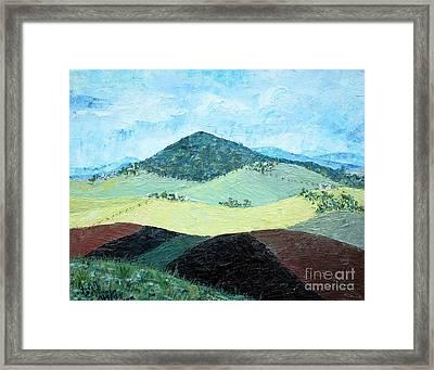 Mole Hill - Sold Framed Print by Judith Espinoza